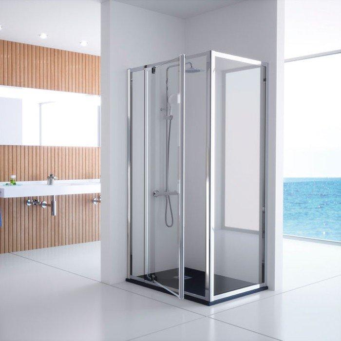 Mampara rectangular + puerta abatible serie 300 kassandra