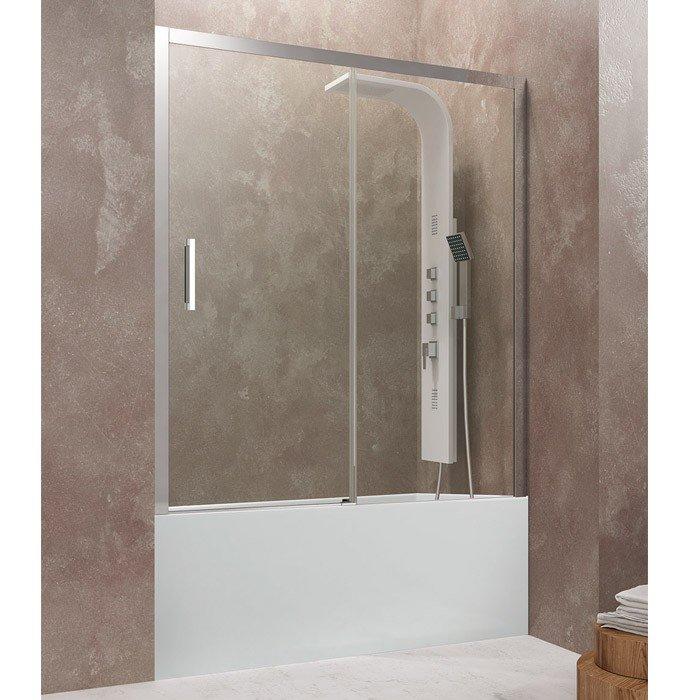Mampara de bañera de 1 puerta corredera más 1 fijo