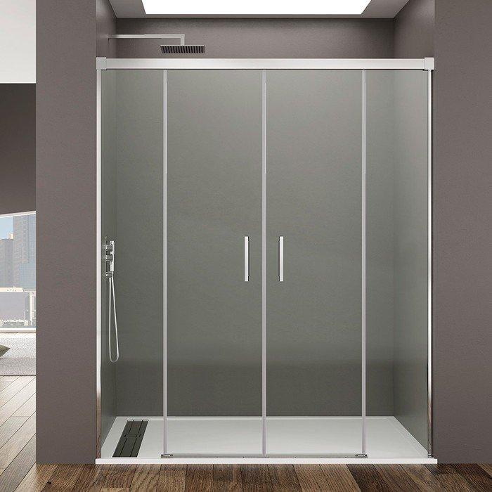 Mampara de ducha frontal 2 Fijo y 2 corredera Basic spazio