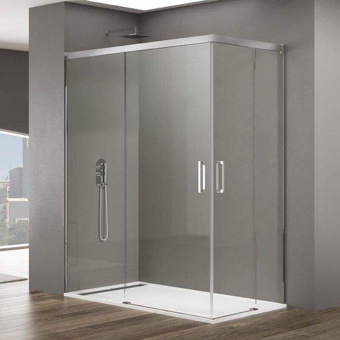 Mampara de ducha angular dos fijos m s dos corredera basic gme - Montaje mampara ducha ...